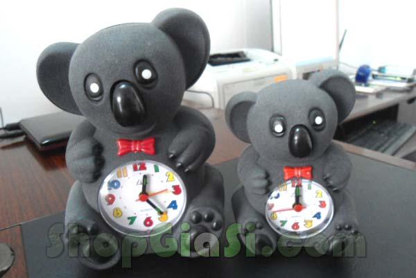 đồng hồ báo thức hình gấu